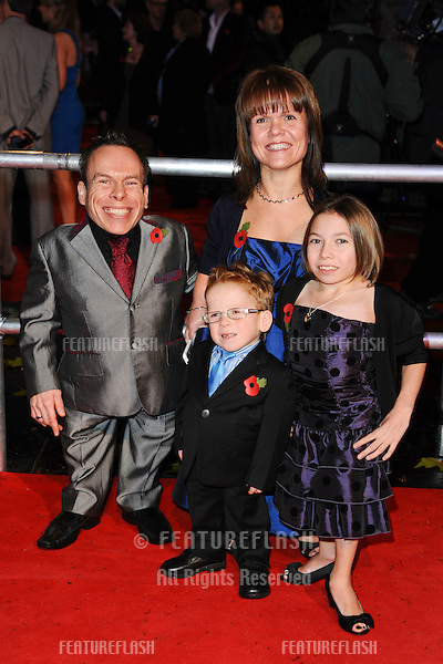 Warick Davies and family arriving for the world premiere of 'Harry Potter and the Deathly Hallows part 1' at the Odeon Leicester Square, London. 11/11/2010  Picture by: Steve Vas / Featureflash