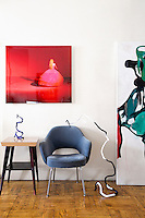 Alice in Wonderland photo by Marcia Grostein above Saarinen chair for Knoll