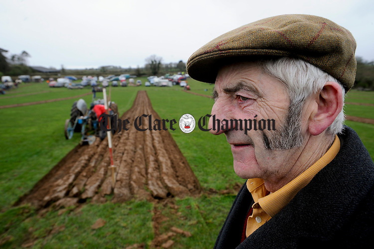Gort's John Quinn taking it all in at the Clare Ploughing Association's county championships at Newmarket On Fergus. Photograph by John Kelly.