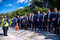 Wellington dignitaries observe two minutes' silence. NZ marks one week since Christchurch terror attacks. Wellington Islamic Centre in Wellington, New Zealand on Friday, 22 March 2019. Photo: Dave Lintott / lintottphoto.co.nz