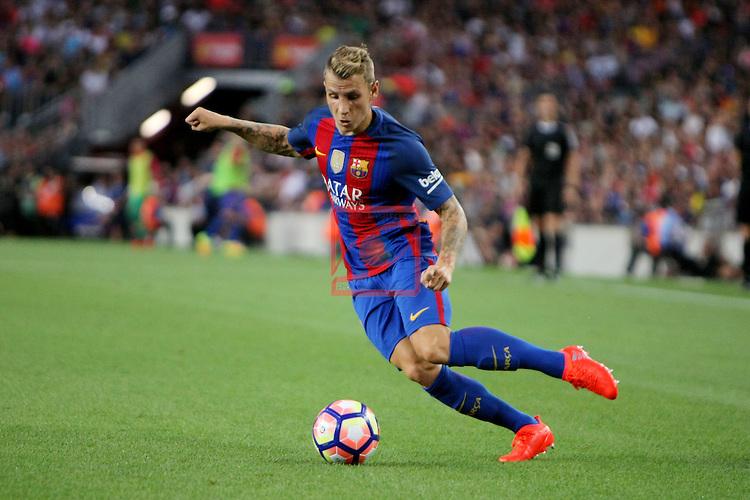 League Santander 2016/2017.<br /> 51e Trofeu Joan Gamper.<br /> FC Barcelona vs UC Sampdoria: 3-2.<br /> Lucas Digne.