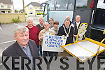 Pictured at the launch of the Kerry Cancer Support group bus at their centre in Kerry Lee, Oakpark, Tralee on Wednesday which will bring Kerry cancer patients to Cork for treatment, from left are Tim Corkery Mort Galvin Treasurers, Liam Gowan, Teddy Murphy, Chris Adair, Mary O'Connor Ted Fitzgerald, John O'Shea and Jim Finucane.