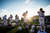 El Paso, TX - December 26, 2016: The Stanford Cardinal prepares for the Sun Bowl in El Paso, Texas