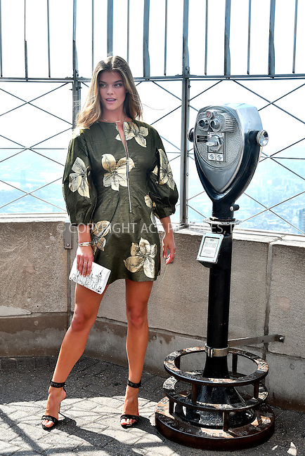 www.acepixs.com<br /> <br /> September 8 2016, New York City<br /> <br /> Model Nina Agdal lights The Empire State Building in honor of International Literacy Day at The Empire State Building on September 8, 2016 in New York City.<br /> <br /> By Line: Curtis Means/ACE Pictures<br /> <br /> <br /> ACE Pictures Inc<br /> Tel: 6467670430<br /> Email: info@acepixs.com<br /> www.acepixs.com