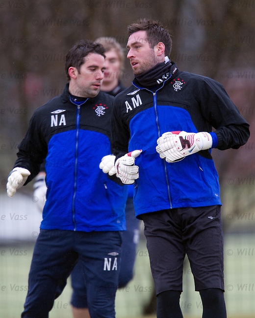 Allan McGregor at training with Neil Alexander