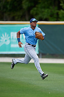 Tampa Bay Rays Pedro Diaz (24) during a Minor League Spring Training game against the Baltimore Orioles on March 16, 2019 at the Buck O'Neil Baseball Complex in Sarasota, Florida.  (Mike Janes/Four Seam Images)