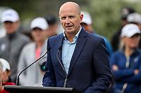 Jon Podany, COO LPGA during the welcoming powhiri. McKayson NZ Women's Golf Open, first Practice Round, Windross Farm Golf Course, Manukau, Auckland, New Zealand, Monday 25 September 2017.  Photo: Simon Watts/www.bwmedia.co.nz