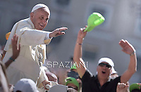 Pope Francis during his weekly general audience in St. Peter square at the Vatican, Wednesday.June 4, 2014.