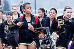 Palos Verdes, CA 11/10/11 - Peninsula's Song and Cheer girls in action during the Peninsula-Palos Verdes varsity football game.