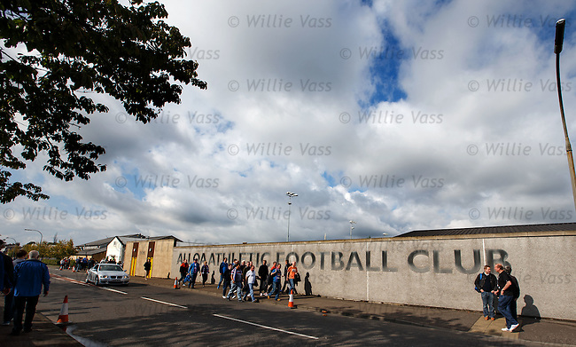 Rangers fans make their way into Indodrill Stadium in Alloa