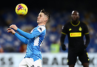 6th January 2020; Stadio San Paolo, Naples, Campania, Italy; Serie A Football, Napoli versus Inter Milan; Piotr Zielinski of Napoli controls the ball off his chest