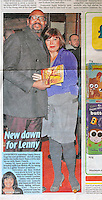 Daily Mirror<br /> Lenny Henry &amp; Lisa Makin by ROS<br /> 41252<br /> tearsheet