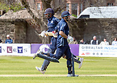 Issued by Cricket Scotland - Scotland V Afghanistan 2nd One Day International - Grange CC - MacLeod and Coetzer (right) make runs - picture by Donald MacLeod - 10.05.19 - 07702 319 738 - clanmacleod@btinternet.com - www.donald-macleod.com