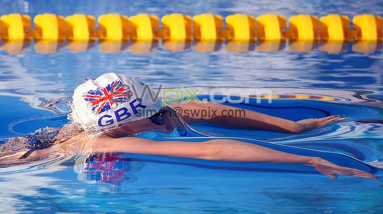 PICTURE BY VAUGHN RIDLEY/SWPIX.COM...Swimming - European Junior Swimming Championships 2011- Tasmajdan Swim Centre, Belgrade, Serbia - 10/07/11...Great Britain's Molly Renshaw competes in the Girls 200m Breaststroke Semi-Finals.
