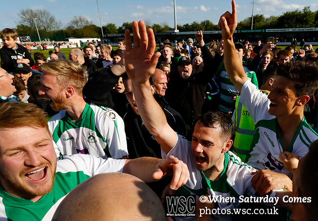 North Ferriby players celebrate at full time. Vanarama National League North, Promotion Final, North Ferriby United v AFC Fylde, 14th May 2016.
