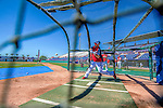 5 March 2013: Washington Nationals outfielder Bryce Harper takes batting practice prior a Spring Training game against the Houston Astros at Space Coast Stadium in Viera, Florida. The Nationals defeated the Astros 7-1 in Grapefruit League play. Mandatory Credit: Ed Wolfstein Photo *** RAW (NEF) Image File Available ***