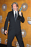 LOS ANGELES, CA. - January 23: Jeff Bridges poses in the press room at the 16th Annual Screen Actors Guild Awards held at The Shrine Auditorium on January 23, 2010 in Los Angeles, California.