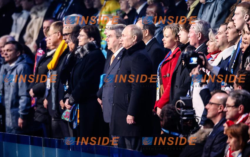 Vladimir Putin <br /> 07.02.2014, Olympiastadion Fischt, Adlerer<br /> Cerimonia Inaugurale Apertura <br /> Sochi 2014 Olimpiadi Invernali. Olympic Winter Games <br /> Foto EXPA/ Insidefoto