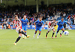 Sheffield United's Billy Sharp scoring his sides second goal during the League One match at the Priestfield Stadium, Gillingham. Picture date: September 4th, 2016. Pic David Klein/Sportimage