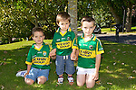 Sean McCannon, Ben McCannon, Conor McCannon, Knockmoyle, getting ready to watch the all Ireland Final, Kerry V Donegal, on Sunday at Ballyroe Heights hotel