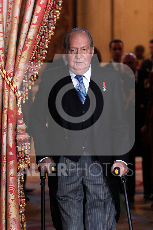 King Juan Carlos of Spain attends the reception of the diplomatic corps in Spain at Palacio Real. January 23, 2013. (ALTERPHOTOS/Caro Marin)