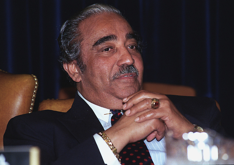 6/11/97.HOUSE WAYS AND MEANS:House Ways and Means Committee  ranking member Charles B. Rangel D-N.Y. during the panel's tax markup session..CONGRESSIONAL QUARTERLY PHOTO BY DOUGLAS GRAHAM