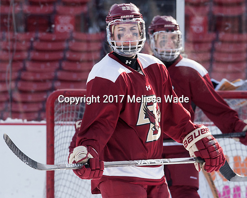 Andie Anastos (BC - 23) - The Boston College Eagles practiced at Fenway on Monday, January 9, 2017, in Boston, Massachusetts.Andie Anastos (BC - 23) - The Boston College Eagles practiced at Fenway on Monday, January 9, 2017, in Boston, Massachusetts.