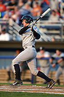 Staten Island Yankees catcher Luis Torrens (57) at bat during a game against the Batavia Muckdogs on August 8, 2014 at Dwyer Stadium in Batavia, New York.  Staten Island defeated Batavia 4-2.  (Mike Janes/Four Seam Images)