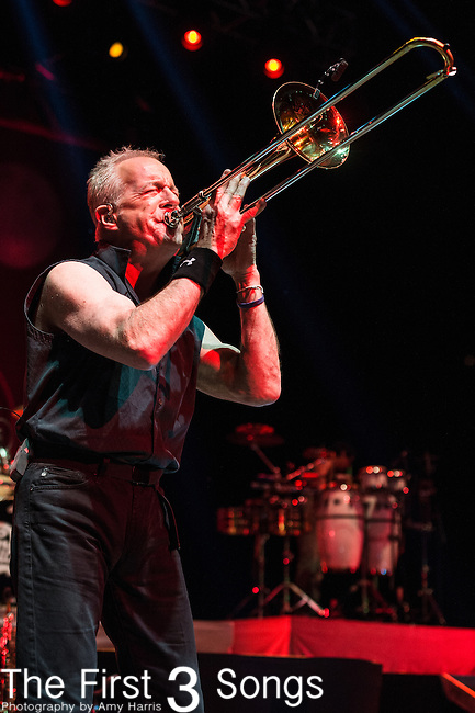 James Pankow of Chicago performs at Riverbend Music Center in Cincinnati, Ohio.