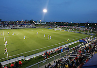 The stadium during a WPS match between the Washington Freedom and the Boston Breakers at the Maryland Soccerplex, in Boyd's, Maryland, on April 18 2009. Breakers won the match 3-1.