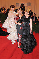Florence Welch, Sarah Burton and Cate Blanchett at the 'Schiaparelli And Prada: Impossible Conversations' Costume Institute Gala at the Metropolitan Museum of Art on May 7, 2012 in New York City. © mpi03/MediaPunch Inc.