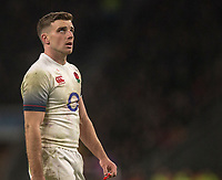 Englands' George Ford<br /> <br /> Photographer Bob Bradford/CameraSport<br /> <br /> NatWest Six Nations Championship - England v Wales - Saturday 10th February 2018 - Twickenham Stadium - London<br /> <br /> World Copyright &copy; 2018 CameraSport. All rights reserved. 43 Linden Ave. Countesthorpe. Leicester. England. LE8 5PG - Tel: +44 (0) 116 277 4147 - admin@camerasport.com - www.camerasport.com