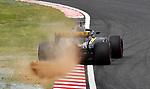 06.10.2018, Suzuka International Racing Course, Suzuka, Formula 1 2018 Honda Japanese Grand Prix<br />  , im Bild<br />Abflug und Unfall von Nico H&uuml;lkenberg (GER#27), Renault Sport F1 Team<br /><br /><br /> <br /> <br /> Foto &copy; nordphoto / Bratic