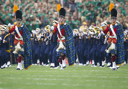 August 31, 2013:  Notre Dame band performs prior to NCAA Football game action between the Notre Dame Fighting Irish and the Temple Owls at Notre Dame Stadium in South Bend, Indiana.  Notre Dame defeated Temple 28-6.