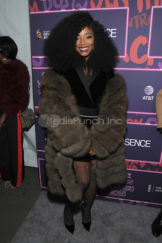NEW YORK, NY - JANUARY 25: Yandy Smith at the Essence 9th annual Black Women in Music event at the Highline Ballroom on January 25, 2018 in New York City. Credit: John Palmer/MediaPunch