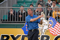 Ryder Cup 206 K Club, Straffin, Ireland...European Ryder Cup team player Darren Clarke on the tee box of the 4th hole during  the  morning fourballs session of the second day of the 2006 Ryder Cup at the K Club in Straffan, Co Kildare, in the Republic of Ireland, 23 September 2006...Photo: Eoin Clarke/ Newsfile.