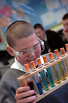 Photos depicting a science lesson in a secondary school...Photos Alan Edwards