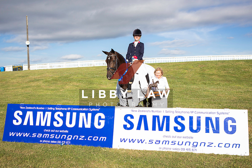 YOUNG RIDER CHAMPION - LEVEL 2: NZL-Mihi Shepherd (HOT CHOCOLATE MH) 2015 NZL-SAMSUNG/GTL Networks NZ Pony and Young Rider Championships (Thursday 15 January) CREDIT: Libby Law COPYRIGHT: LIBBY LAW PHOTOGRAPHY