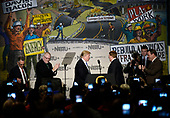 United States President Donald Trump (C) arrives on stage to delivers remarks at the 2017 North Americaís Building Trades Unions National Legislative Conference at the Washington Hilton in Washington, DC, April 4, 2017.<br /> Credit: Olivier Douliery / Pool via CNP