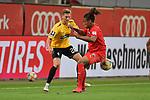 Spiel am 35 Spieltag in der Saison 2019-2020 in der 3. Bundesliga zwischen dem FC Ingolstadt 04 und dem SV Waldhof Mannheim am 24.06.2020 in Ingolstadt. <br /> <br /> Jan-Hendrik Marx (Nr.26, SV Waldhof Mannheim) und Caniggia Ginola Elva (Nr.14, FC Ingolstadt 04)<br /> <br /> Foto © PIX-Sportfotos *** Foto ist honorarpflichtig! *** Auf Anfrage in hoeherer Qualitaet/Aufloesung. Belegexemplar erbeten. Veroeffentlichung ausschliesslich fuer journalistisch-publizistische Zwecke. For editorial use only. DFL regulations prohibit any use of photographs as image sequences and/or quasi-video.