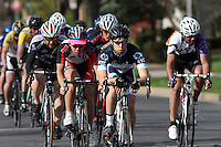 Columbia University-NYC's Matthew Sherman, center, leas the pack at the  Men's D1 Criterium at the Eastern Collegiate Cycling Conference Championships on April 28, 2013.  Photo/©2013 Craig Houtz