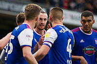 New signing Will Keane of Ipswich Town celebrates his opening goal with his new team mates during Ipswich Town vs Rotherham United, Sky Bet EFL Championship Football at Portman Road on 12th January 2019