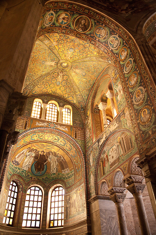 Interior of San Vitale Basilica in Ravenna, Italy
