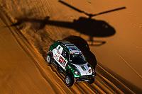 12th January 2020, Riyadh, Saudi Arabia;  324 Seaidan Yasir (sau), Kuzmich Alexy (rus), Mini, Race World Team, during Stage 7 of the Dakar 2020 between Riyadh and Wadi Al-Dawasir, 741 km - SS 546 km, in Saudi Arabia   - Editorial Use