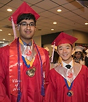 Dhananjay Gogna and Vincent Wang during the Wooster High School Graduation on Saturday, June 10, 2017 at Lawlor Events Center in Reno.