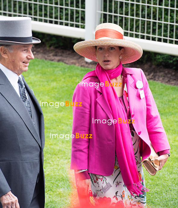ROYAL ASCOT 2014 LADIES DAY - THE AGA KHAN AND DAUGHTER PRINCESSES ZAHRA<br /> The Queen, Duke of Edinburgh, Princes Andrew and Harry Prince Harry, Princesses Anne, Eugenie and Beatrice in attendance on the Ladies Day of the 4-day Royal Ascot Race Meeting.<br /> United Kingdom, Ascot, June 19, 2014.