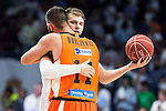Real Madrid's player Luka Doncic and Valencia Basket's Dubljevic during the first match of the Semi Finals of Liga Endesa Playoff at Barclaycard Center in Madrid. June 02. 2016. (ALTERPHOTOS/Borja B.Hojas)