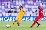 Massimo Luongo of Australia (L) in action during the AFC Asian Cup UAE 2019 Group B match between Australia (AUS) and Jordan (JOR) at Hazza Bin Zayed Stadium on 06 January 2019 in Al Ain, United Arab Emirates. Photo by Marcio Rodrigo Machado / Power Sport Images