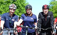 Picture by Simon Wilkinson/SWpix.com 13/05/2018 - Cycling HSBC UK Let's Ride Cardiff - Castle, Shane Williams, Lewis Oliva, Julie Harrington ,Warren Lewis