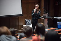 Oxy Arts Speaker Series presents artist and producer Zackary Drucker, November 27, 2017 in Choi Auditorium. Zackary Drucker is an independent artist, cultural producer, and trans woman who breaks down the way we think about gender, sexuality, and seeing. She has performed and exhibited her work internationally in museums, galleries, and film festivals including the Whitney Biennial 2014, MoMA PS1, Hammer Museum, Art Gallery of Ontario, MCA San Diego, and SF MoMA, among others. Drucker is an Emmy nominated Producer for the docu-series This Is Me, as well as a Producer on Golden Globe and Emmy winning Transparent.<br /> Oxy Arts Speaker Series:<br /> The Oxy Arts Speaker Series brings five multidisciplinary LA-based artists to Occidental College to engage our community in conversation about their art, their inspirations, and why they do what they do in Los Angeles today. All lectures take place in Choi Auditorium, and are free and open to the public.<br /> The Oxy Arts Speaker Series is made possible by the Arts and Urban Experience Initiative, which is generously funded by the Andrew W. Mellon Foundation.<br /> (Photo by Marc Campos, Occidental College Photographer)